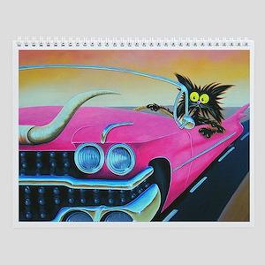 PINK CADILLAC CAT - Wall Calendar
