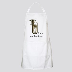 It's a Euphonium Band Booster Apron