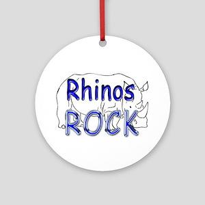 Rhinos Rock Ornament (Round)