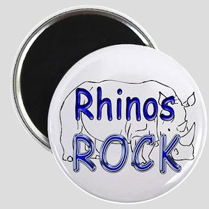 Rhinos Rock Magnet