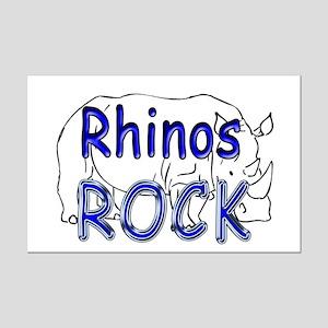 Rhinos Rock Mini Poster Print