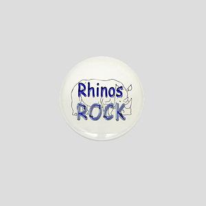 Rhinos Rock Mini Button