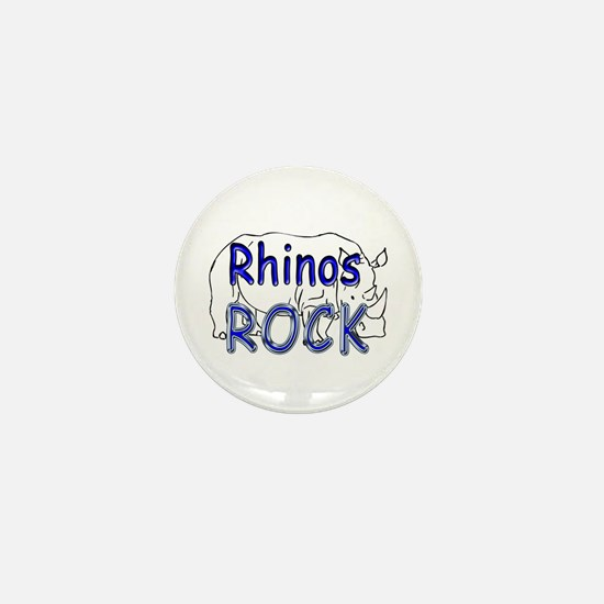 Rhinos Rock Mini Button