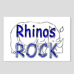 Rhinos Rock Postcards (Package of 8)