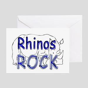 Rhinos Rock Greeting Cards (Pk of 10)