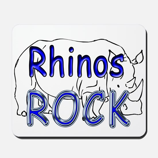 Rhinos Rock Mousepad