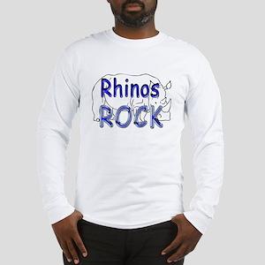 Rhinos Rock Long Sleeve T-Shirt