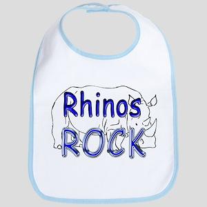 Rhinos Rock Bib