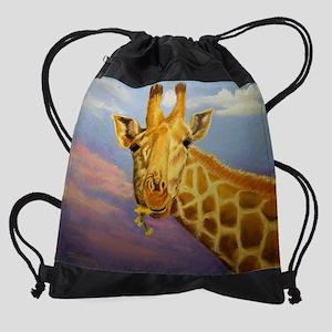 giraffe_calendar Drawstring Bag
