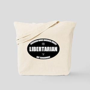 Libertarian BWL Oval Tote Bag