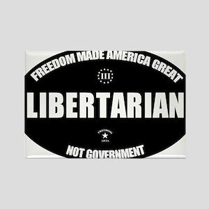 Libertarian BWL Oval Rectangle Magnet