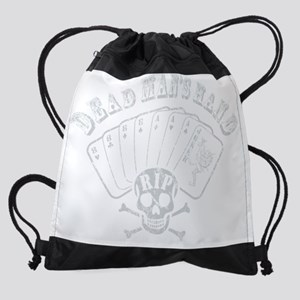 deadmanhandbluegry.png Drawstring Bag