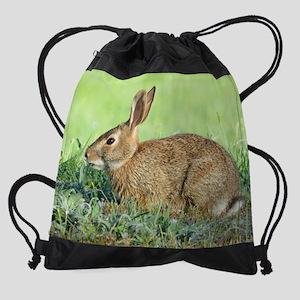 bunny rabbit Drawstring Bag