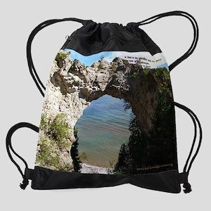 Arch Rock Drawstring Bag