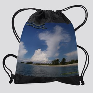 Cross in the Clouds Drawstring Bag