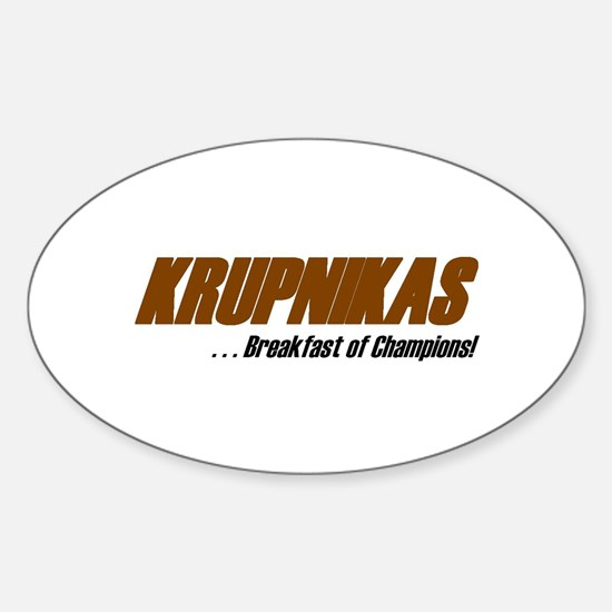 Krupnikas Oval Decal