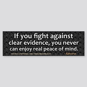 Clear Evidence Bumper Sticker