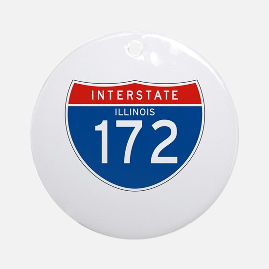 Interstate 172 - IL Ornament (Round)