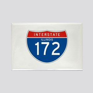 Interstate 172 - IL Rectangle Magnet