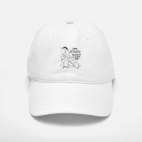 I Wear White Because I Love My Uncle Baseball Baseball Baseball Cap