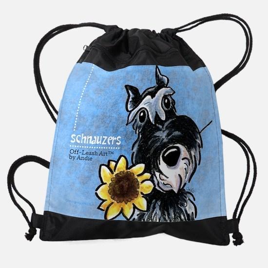 Schnauzers Off-Leash Art™ Vol 1 Drawstring Bag