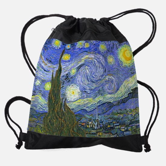 Van Gogh Starry Night Drawstring Bag