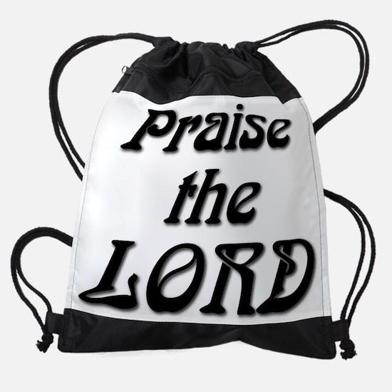 Praise The LORD Black.PNG Drawstring Bag