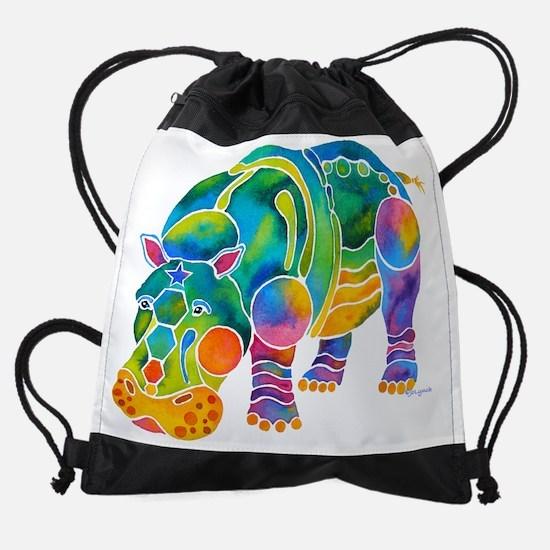 Hippo4DksZ.png Drawstring Bag
