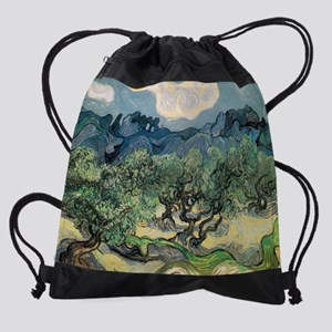 Olive Trees with the Alpilles Drawstring Bag