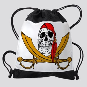 pirate flag Drawstring Bag
