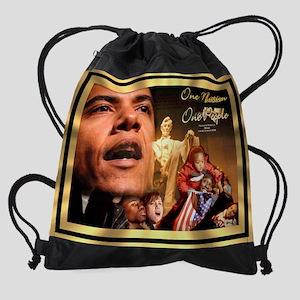 Obama 20x16 Drawstring Bag