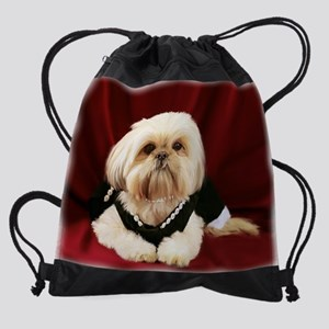 little princess v Drawstring Bag