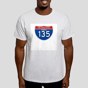 Interstate 135 - KS Ash Grey T-Shirt