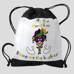 mardi gras baby Drawstring Bag
