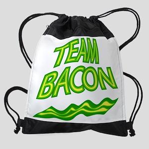Team Bacon Green Drawstring Bag