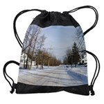 rural winter calendar copy Drawstring Bag
