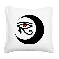 LunaSees Heart Logo Square Canvas Pillow