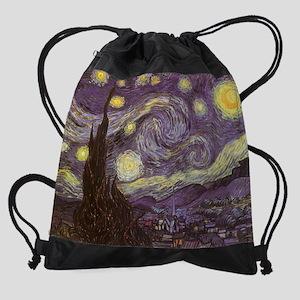 Van Gogh Starry Night  Drawstring Bag