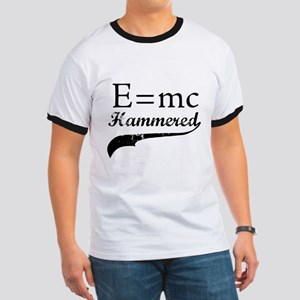 E=MC Hammered Ringer T