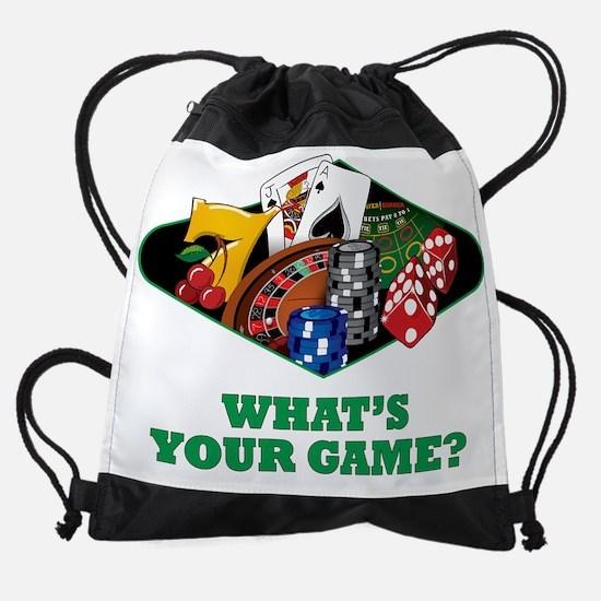 casinoclggame.png Drawstring Bag