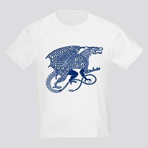 Celtic Knotwork Dragon, Blue T-Shirt