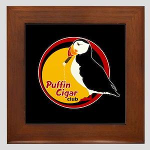 Puffin Cigar Club Framed Tile
