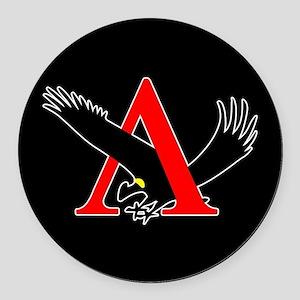 Lambda Alpha Upsilon Logo Round Car Magnet