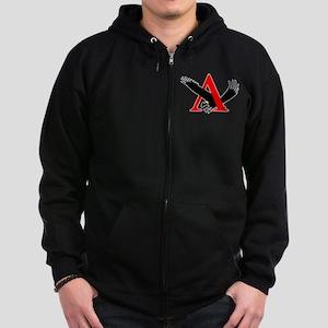 Lambda Alpha Upsilon Logo Zip Hoodie (dark)