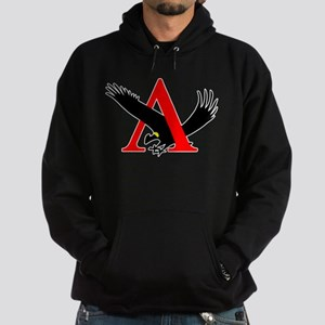 Lambda Alpha Upsilon Logo Hoodie (dark)