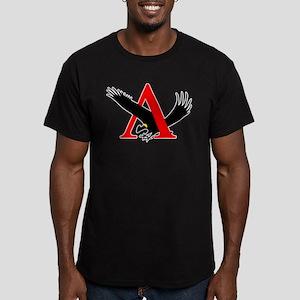 Lambda Alpha Upsilon L Men's Fitted T-Shirt (dark)