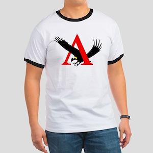 Lambda Alpha Upsilon Logo Ringer T
