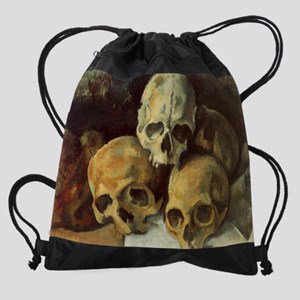 Pyramid of Skulls Drawstring Bag