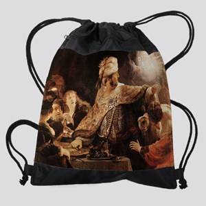 Belshazzars Feast Drawstring Bag