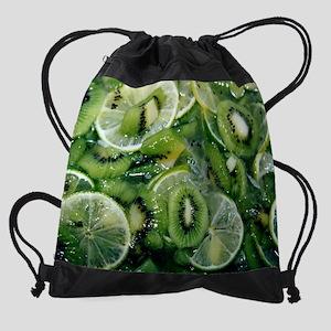 Farmer Market 3 Calendar Print Drawstring Bag
